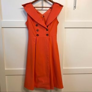 Beautiful timeless oranges dress.